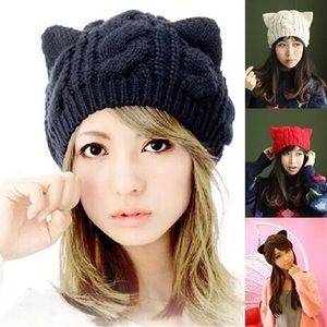 Accessories - 😸Knit Cat Ear Beanie Purrfectly Fab
